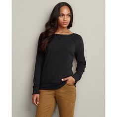 Eddie Bauer Sueded Crew Sweatshirt, Raven L Regular « Impulse Clothes