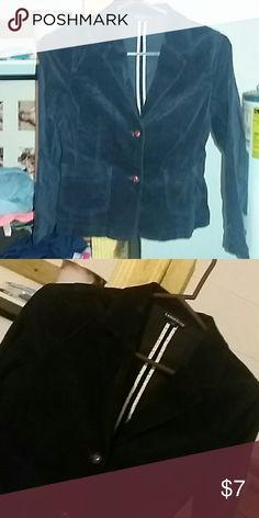 Lands end jacket Velvet blue. Wooden buttons Lands' End Jackets & Coats Pea Coats