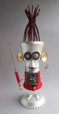 Found Object Robot Assemblage Sculpture by Brian Marshall 7 | Flickr - Photo Sharing!