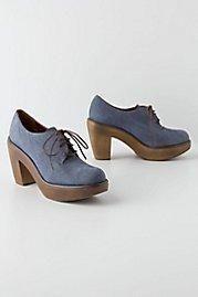 Anthropologie Nubuck Oxford Clogs by Rachel Comey Blue 8.5 Women's Shoes
