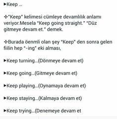 This Pin was discovered by Hir English Words, English Lessons, English Grammar, Learn English, English Language, Learn Turkish Language, Learn A New Language, Vocabulary Journal, Turkish Lessons