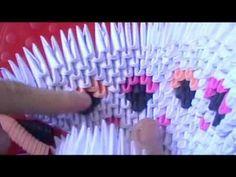 3D origami timelapse: amazing elegant peacock
