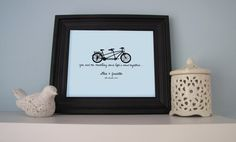 Bike Love  You and me travelling down life's road by MySweetPrints, $25.00