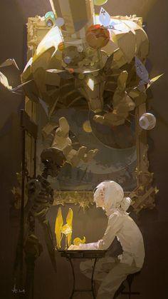 Beautiful Science Fiction, Fantasy and Horror art from all over the world. D Gray Man, Pretty Art, Cute Art, Aesthetic Art, Aesthetic Anime, Art Inspo, Bel Art, Arte Dark Souls, Wallpaper Collection