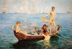Henry Scott Tuke, August Blue, 1893