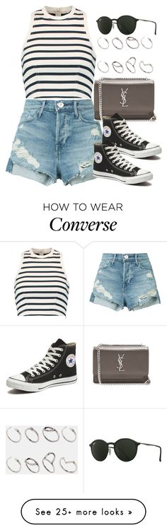 """Sin título #12863"" by vany-alvarado on Polyvore featuring 3x1, T By Alexander Wang, Yves Saint Laurent, Converse, Ray-Ban and ASOS"
