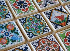 italian style tile cookies! could be cute to give as favors at the end of a rehearsal dinner for one of our weddings in capri