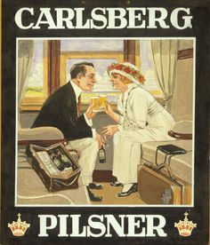 The Print Ad titled Carlsberg Pilsner: Сompartment (1910) was done  for product: Carlsberg Pilsner (brand: Carlsberg) . It was released in Jul 1990.
