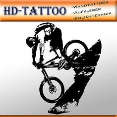 Wandtattoo Down Hill 2 Cross Mountain Bike Sport Radsport Downhill Wandaufkleber