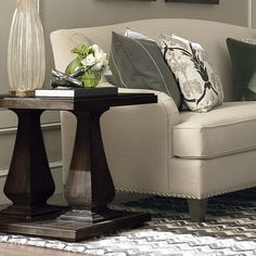 Emporium End Table by Bassett Furniture is inspired by European 19th Century antiques.