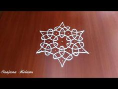 Navaratri Easy And Simple kambi Kolam.