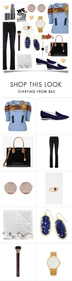 """""""Bead Embellished Sweater..**"""" by yagna ❤ liked on Polyvore featuring Miu Miu, Nicholas Kirkwood, 7 For All Mankind, Linda Farrow, Contempoh, Cutuli Cult, Kendra Scott, Hourglass Cosmetics and Larsson & Jennings"""
