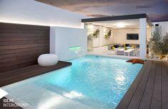 Backyard Pool Designs, Small Backyard Pools, Small Pools, Swimming Pool Designs, Outdoor Swimming Pool, Pool Landscaping, Inside Pool, Piscina Interior, Glam House