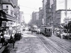 Philadelphia, PA Center City Market east of — 1907 Philadelphia History, Historic Philadelphia, Tapas, City Scene, Old City, Historical Photos, Old Photos, Vintage Art, Street View