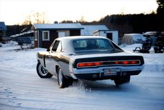 Winter drift, Dodge charger 1969