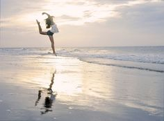 doing ballet in the beach