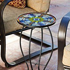 DIY Repurposed Reel Mosaic Table | The Owner-Builder Network