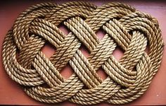 Rope Art - Nice graphic quality! by Aiyah • rope door mat • sailing ship high seas