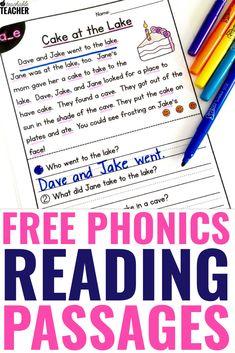 Free Phonics Reading Passages