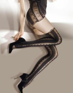 MOCK SUSPENDER TIGHTS Giulia IMITATION HOLD UPS STYLE TIGHTS new Patterned