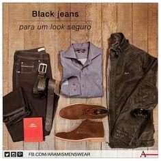 O jeans de lavagem escura deixa o visual sóbrio, discreto e seguro. #estiloaramis #aramismenswear #inverno2014