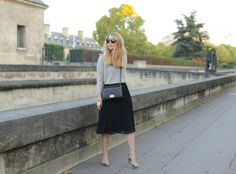 Caroline L. - Long skirt and cosy knit