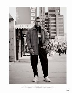 Mitchell Slaggert at DNA Models lensed by Bruno Staub and styled by Tobias Frericks, for the Fall/Winter 2015 issue of GQ Style Germany