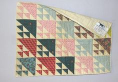THREE ANTIQUE DOLL QUILTS. Multicolor Birds in Flight, Delaware 1835.  Click to see others.  Garth's Auction, Live Auctioneers