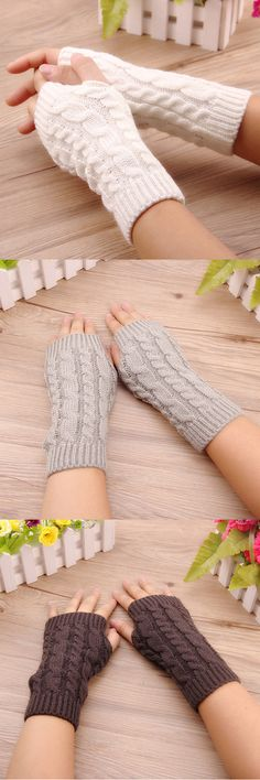 Women Stylish Hand Warmer Winter Gloves Arm Crochet Knitting Warm Fingerless Gloves Source by judyteichroew Fingerless Gloves Crochet Pattern, Fingerless Mittens, Knitted Gloves, Cable Knitting Patterns, Loom Knitting, Hand Knitting, Crochet Patterns, Crochet Amigurumi, Knit Crochet