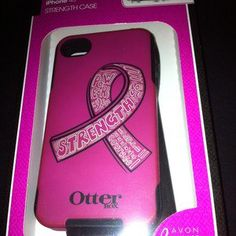 Otter Box Commuter Case. Pink Breast Cancer Strength For Iphone 4 Or 4S