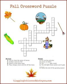 Fun, Fall  Crossword