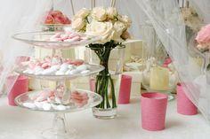 Idee per allestimento #rose #confetti #candele #white