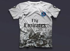 #Nike Paris Saint-Germain Concept Kits by Federico Maccapani   #PSG x Marcelo Burlon 2