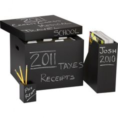 Chalk Board. I am going to paint boxes with chalkboard paint. Not buy these. Hey, if you want it to be a permanent label just put clear package tape over the top of what you write.