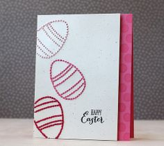Happy Easter Card by Laura Bassen for Papertrey Ink (March 2014)