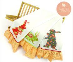 Ruffle Bunnies: Fun Appliqué Kitchen Towels | Sew4Home