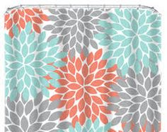 coral and mint green bath towels - Google Search