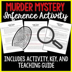 Work on making inferences through this fun murder mystery activity! Students will play the role of detective and make assumptions based on clues surrounding a murder in a suburban neighborhood. At the end, they will be required to guess who the murderer was, how they committed the crime, and what their motivation was.