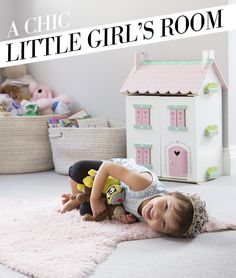 A CHIC LITTLE GIRL'S ROOM -  greige décor for a little princess: A little girl's room doesn't have to be pink...