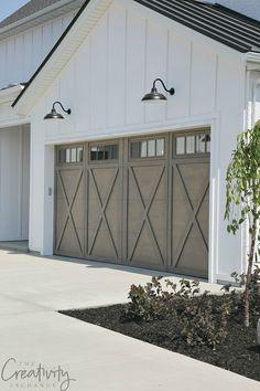 Modern Farmhouse Exterior Garage Close Up
