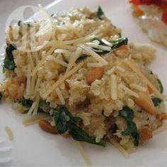 Quinoapilaf met spinazie en kaas @ allrecipes.nl