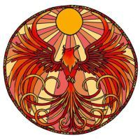phoenix stained glass by hairwire