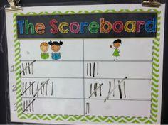 Whole Brain Teaching Scoreboard teacher vs kids