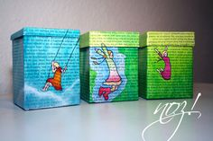 #Re-Use: #recycle and paint milk cartons.  The #tutorial you will find on my blog.