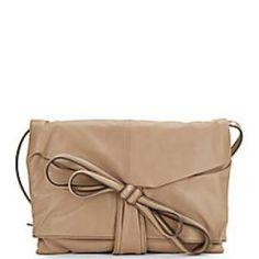 50% off Valentino - Clutch Tie-Bow Leather Khaki - $1519.99 #valentino #bow #clutch