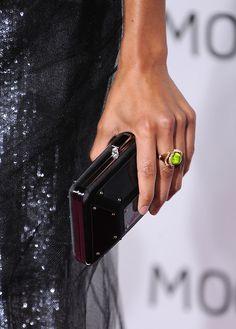 Actress Zoe Saldana, arrives at the MOCA New 30th Anniversary Gala on November 14, 2009 in Los Angeles, California.