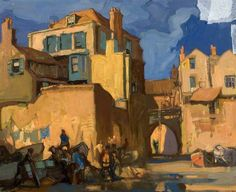 Lyme Regis by Frank Brangwyn  Oil on board, 47 x 56.5 cm Collection: Dundee Art Galleries and Museums Collection (Dundee City Council)