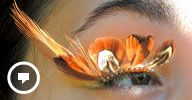 Image: Autumn Fox eyelash jewelry art by Natalie Russo (© Natalie Russo/EyelashJewelry via Etsy, http://aka.ms/eyelashjewelry)