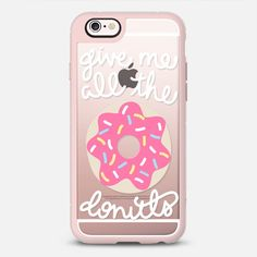 Give Me All The Donuts - New Standard Case in Pink Grey by Froswt Design Co | @casetify