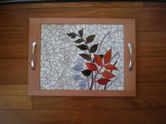 Mosaic Tray, Mosaic Pots, Mosaic Glass, Mosaic Tiles, Stained Glass, Mosaic Crafts, Decoupage, Projects To Try, Objects